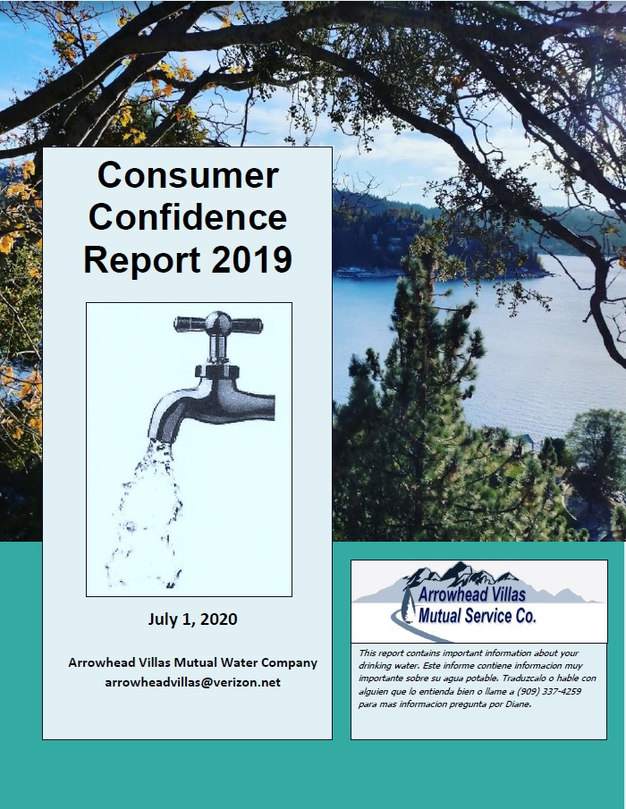 Click to download 2019 Consumer Confidence Report